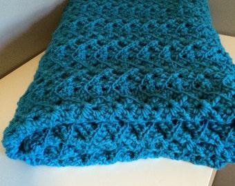 Ribbed Ripple Crochet Afghan