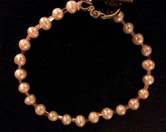 Gold and Fresh Water Pearl Bracelet ** Marked Down **