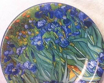 1 Vincent Van Gogh Blue Green Iris Dessert Salad 8 inch Plate Certified International
