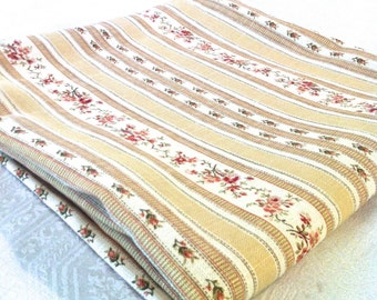 """NEW Waverly 54"""" Decorator Square Topper Yellow White Stripe Heavy Fabric Table Cloth (54 x 78 available)"""
