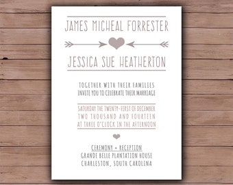 Printable Wedding Invitation - Wedding Invite - Printable Wedding Invite - Wedding Invitation - The Chelsea Collection