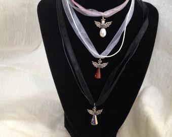 Crystal Angel Necklaces 1