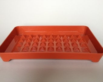Vintage Paprika Colored Tupperware Tray