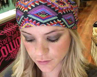 Aztec Print Headband, Tribal Print Headband, Spandex headband, running, headband, Stretch headband, Summer headband, workout headband, yoga
