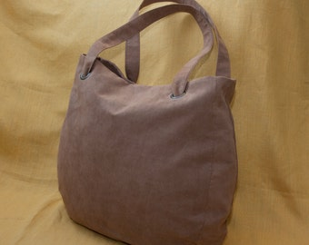 Everyday tote bag / oversized bag / casual bag / shoulder bag / faux suede bag / light brown color