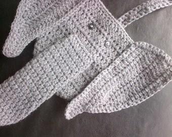 PATTERN ONLY!  Crochet Elephant Thong Pattern