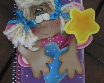 Notebook / Diary with Pen - 3D Hand Painted Foam Doll