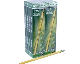 96 Drawing Pencils, Sketching Pencils, #2 HB; 96 Box Dixon Ticonderoga Wood Cased Graphite Pro Pencils; Artists Set