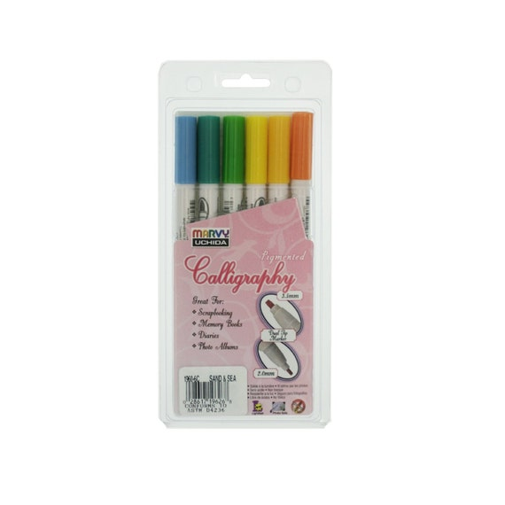 Uchida Marvy Calligraphy Markers Pigmented Sand And Sea