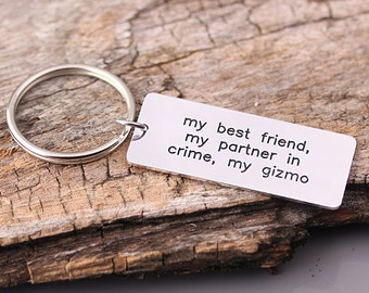 Personlaized keychain - Custom Alloy Keychain - Hand stamped Key chains - Gfit for Love, Wedding, Father's Day