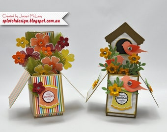 Stampin Up Card in a Box Digital Tutorial - Includes basic instructions for 5 different looks (see photos)