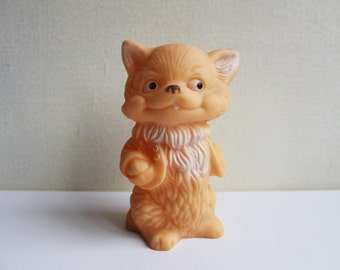 Soviet Rubber Cat, Vintage Russian Rubber Cat Toy, Made in USSR. Collectible