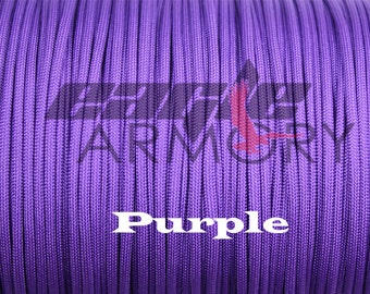 550 Paracord Commercial 7 Strand 50 foot PURPLE 550 paracord.  Made in the USA.  Fast shipping
