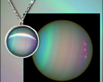 Silver Opalescent Uranus Pendant