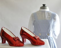 Replica hand sewn ruby slippers