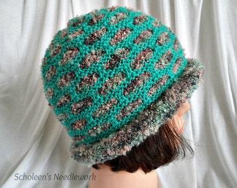 Hand Knitted Hat. Smart Hat. Handmade Hat.  Ladies Hat. Reversible Hat. Double Sided Hat. Ladies Winter Hat. 2 in 1 Hat. Women Hat.