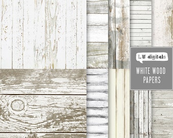 White wood digital paper wooden texture wood background scrapbook gray wood old planks photography template light natural wood grain country