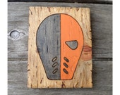 Woodburned Deathstroke Mask from DC Comics/Green Arrow/CW Arrow - Handmade to Order