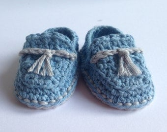 Crochet Baby Booties. Cotton loafers. Baby shoes