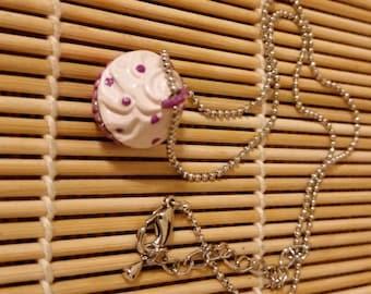 Pink & Purple Cupcake Locket Necklace