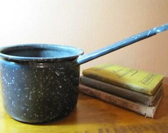 Vintage Graniteware Sauce Pan