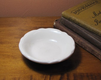 Vintage White Restaurant Ware Berry Bowl