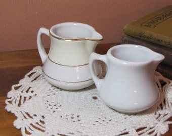 Two (2) Vintage Restaurant Ware Creamers