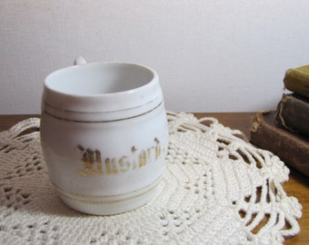 Vintage Porcelain German Mustard Cup