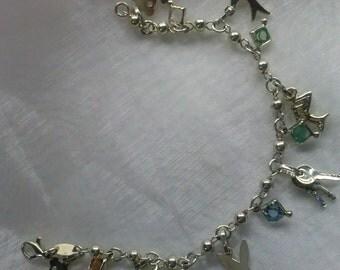 925 Silver Gold Plated bracelet Gems.