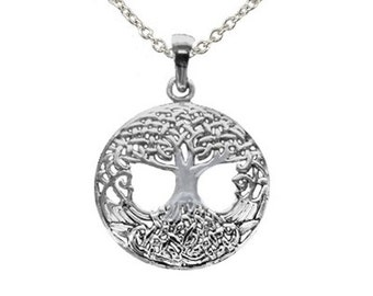 Sterling Silver Celtic Tree of Life Pendant (P1056)