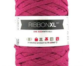 Bulky recycled cotton yarn | Candy Pink