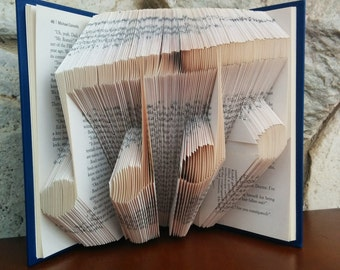 Music Notes - Folded Book Art - Fully Customizable, music teacher musical