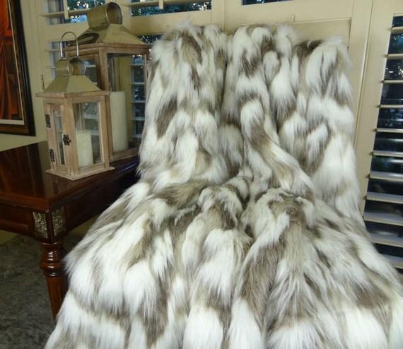 couvre lit fourrure Faux Rabbit Fur Blanket.Shag Throw Exotic Rabbit Faux Fur Throw  couvre lit fourrure