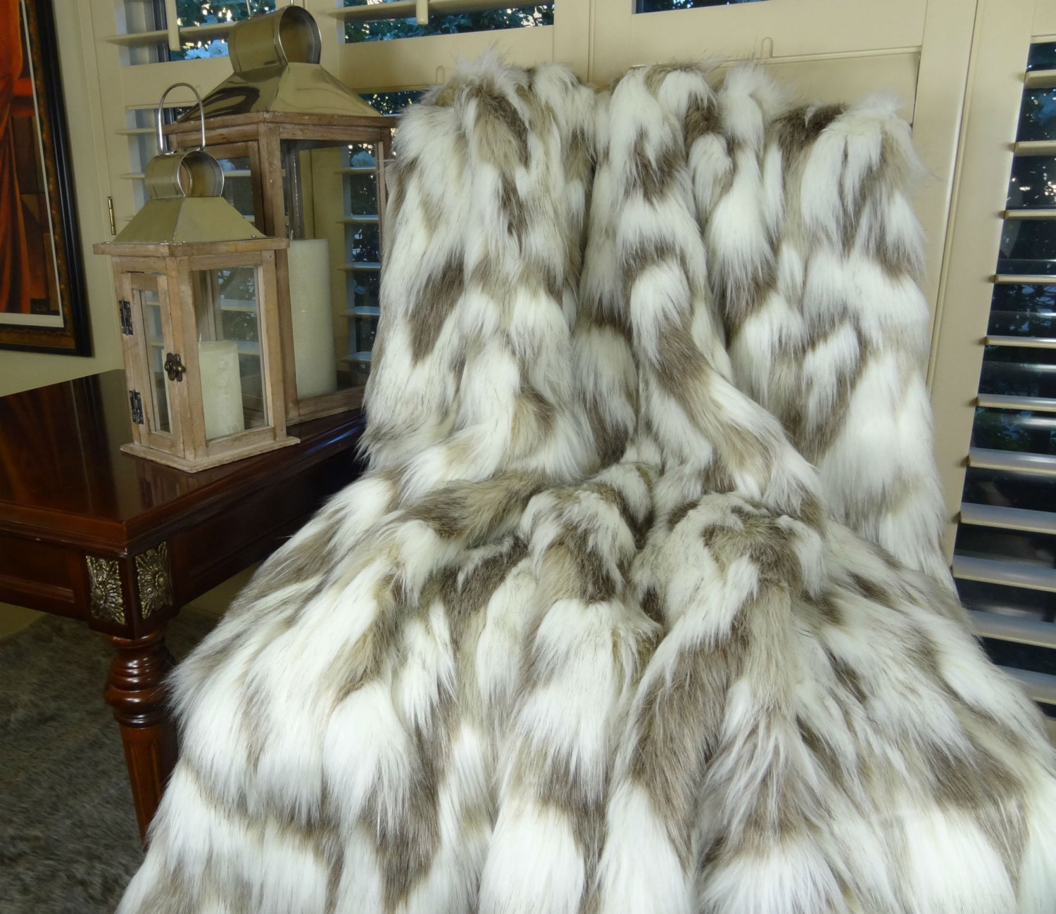 Fur Throw Rug Home Decor