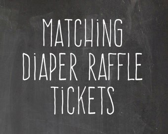 Matching Diaper Raffle Tickets - Digital File