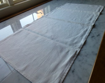 "Linen Ecru Runner, 35"" x16"" Good Condition, Vintage, Reduced!"