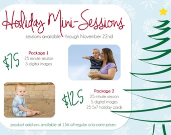 Holiday advertising template for photographers