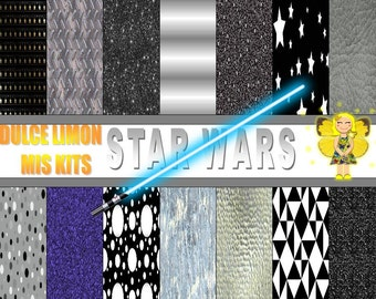 Kit digital papers more star wars clipart !!!