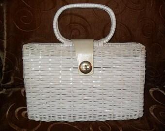 White Wicker Bag from Ritter, Hong Kong.