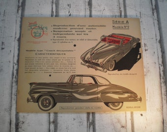 vintage 1930s car paper craft book, oldtimer car