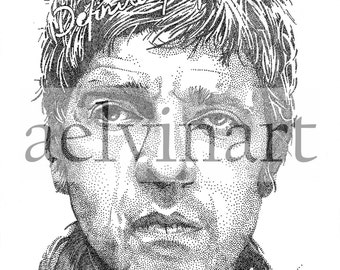 Noel Gallagher (Oasis) - Limited Edition Pointillism Giclee Print