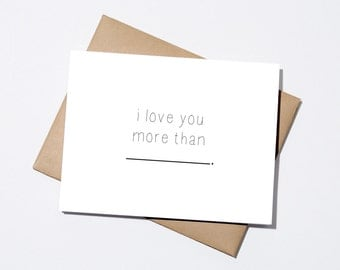 Love you More Than ________