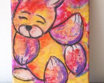 Canvas print: Colorful Bunny