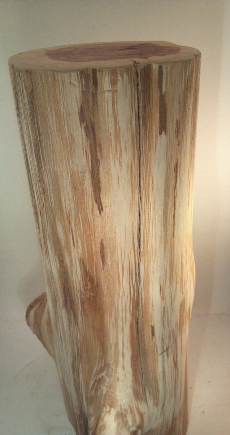 Rustic Red Cedar Stump End Table Plant Stand By