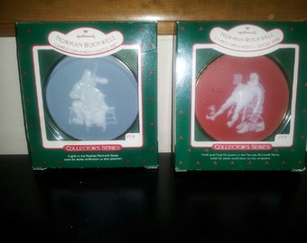 vintage Norman Rockwell Hallmark cameo ornaments collectors series