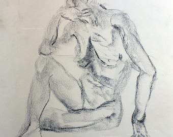 Charcoal figure drawing No. 1