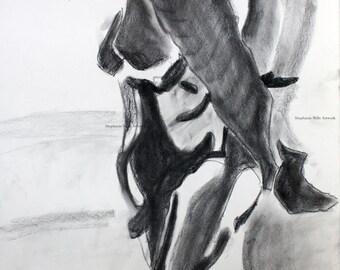 charcoal figure drawing No. 10