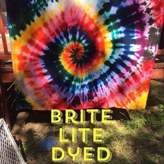 Tie Dye Shower Curtain Bathroom Bath Shower by BriteLiteDyed
