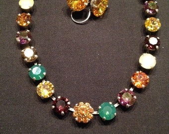 Swarovski 8mm necklace/earring set
