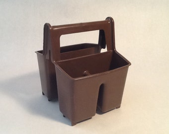 Rubbermaid Caddy Brown Organizer Container Desk Accessory Pencil Pen Crayon Container With Handle